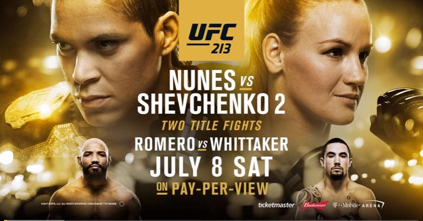 UFC 213 countdown