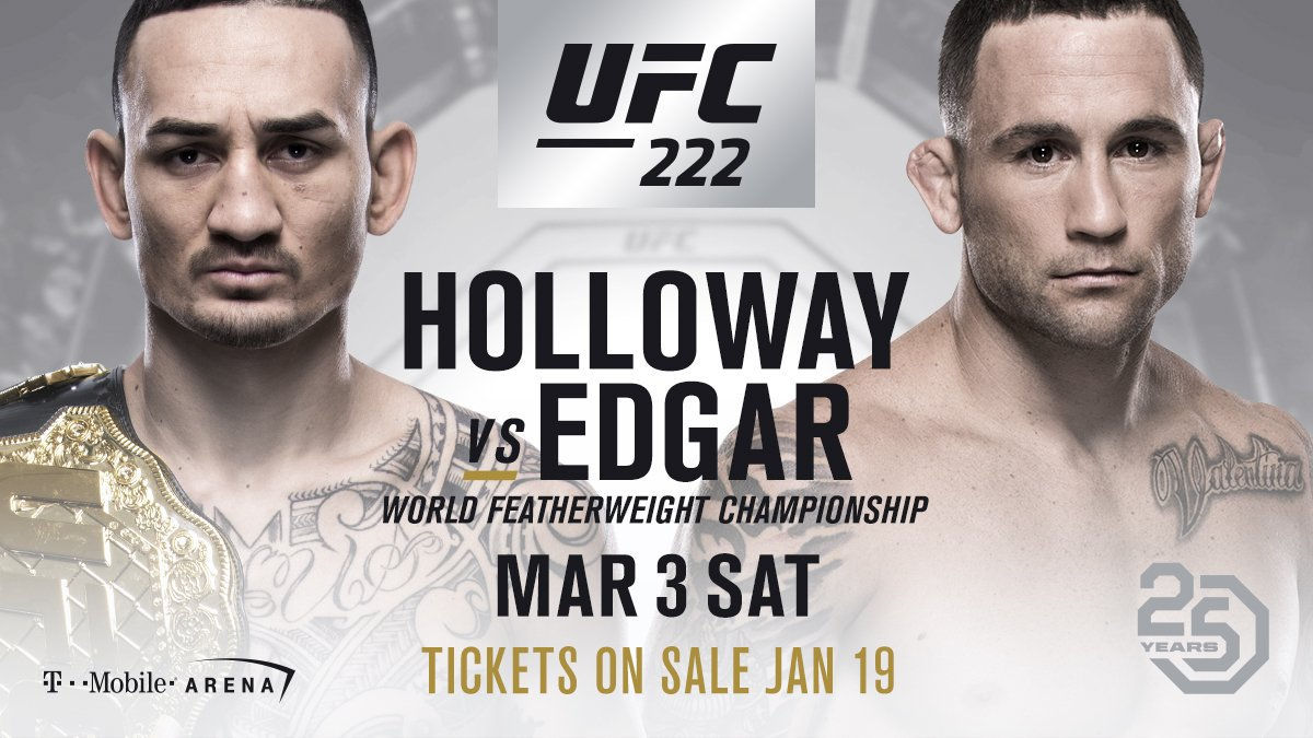 UFC 222 max holloway frankie edgar